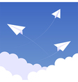 Sky paperplanes background 02 vector