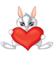 Rabbit with a heart vector
