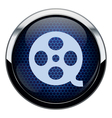 Blue honeycomb movie icon vector