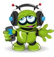 Robot music lover vector