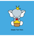 Elephant with a muffin vector