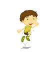 Jumping boy vector