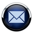 Blue honeycomb mail icon vector
