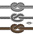 Black rope knot symbols vector