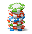 Falling casino chips vector