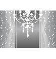 Silver frame chandelier vector
