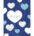 Abstract hanging jewels striped heart vector