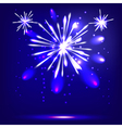 Blue background with fireworks vector