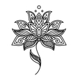 Vintage persian paisley floral element vector