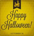 Haunted house retro typographic halloween card vector