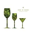 Evergreen christmas tree three wine glasses vector