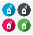 Bug disinfection sign icon fumigation symbol vector