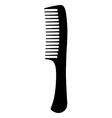 Black hair comb vector