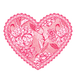Heart lace pattern 1 380 vector