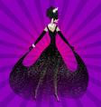 Lady in black dress vector