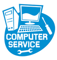Computer service label vector