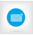 Mail letter icon in flat and doodle style vector