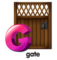 A letter g for gate vector