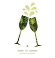 Evergreen christmas tree toasting wine glasses vector