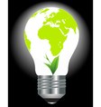 Environmental light bulb vector