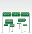 Marketing green road signs vector