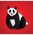 Giant panda card vector
