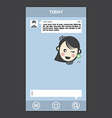 Mobile chat frames message boxes sample text vector