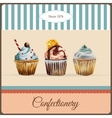 Confectionery advertisement with watercolor vector