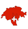 Switzerland hand signal vector