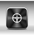 Wheel icon steering car circle vehicle vector