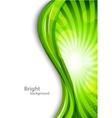 Wavy green background vector