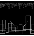 Geometric monochrome seamless line background vector