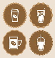 Coffee cup icons badge set vector