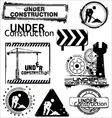 Grunge under construction vector