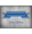 Blue ribbon vector