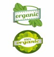 Hundred percent organic label vector