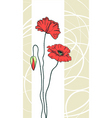 Floral poppies background vector