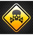 Warning sign with skull vector