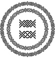 Seamless ornamental knot frames vector