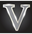 Silver metallic fonts vector