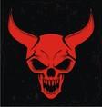 Red demon skulls vector