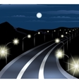 Night highway vector