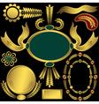 Golden elements and frames vector