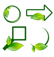 Eco label signs vector