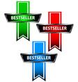 Three bestseller icons vector