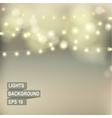 Bokeh garland lights vector