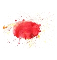 Abstract stains watercolor banner red and vector