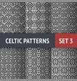 Celtic patterns set vector