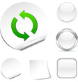 Refresh icon vector