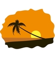 Palm tree on seaside vector
